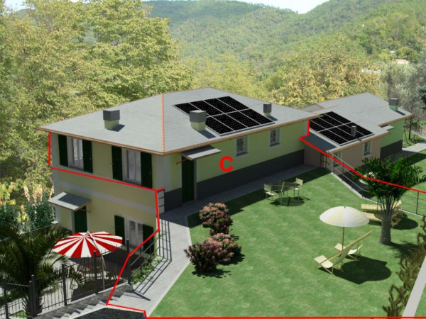 Appartamento in vendita a Rapallo, Ronco, Con giardino, 84 mq - Foto 26
