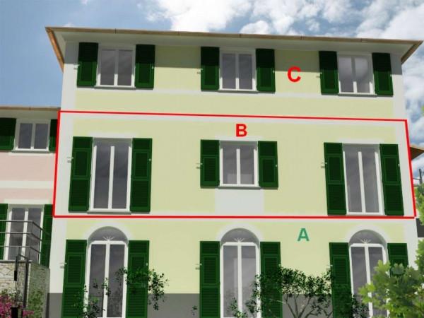 Appartamento in vendita a Rapallo, Ronco, Con giardino, 84 mq