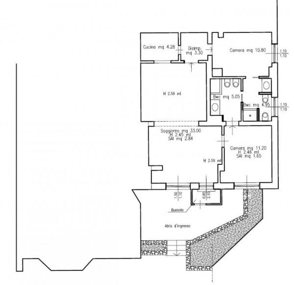 Appartamento in vendita a Cortina d'Ampezzo, Con giardino, 96 mq - Foto 3