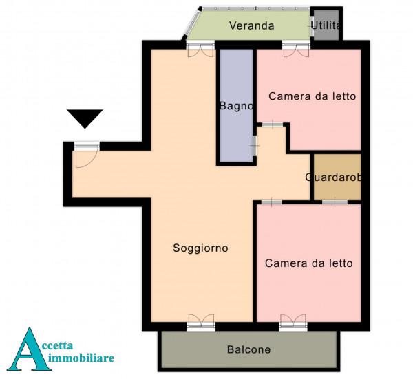 Appartamento in vendita a Taranto, Rione Italia, Montegranaro, 103 mq - Foto 2