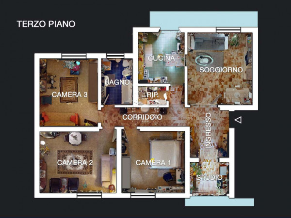 Appartamento in vendita a Firenze, 128 mq - Foto 5