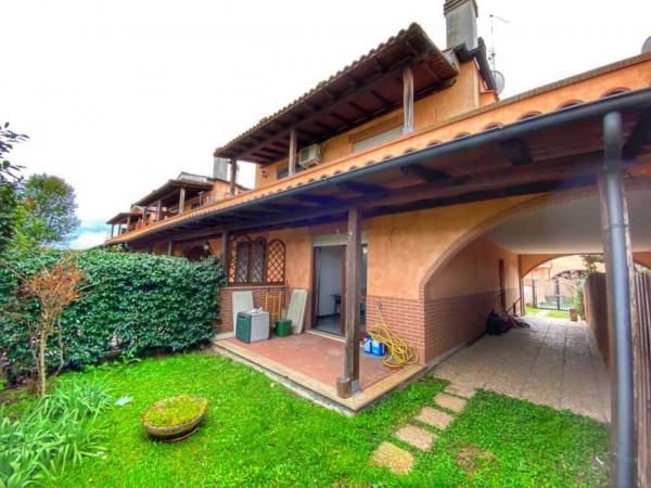 Villetta a schiera in vendita a Roma, Lunghezza Castelverde, Arredato, con giardino, 110 mq