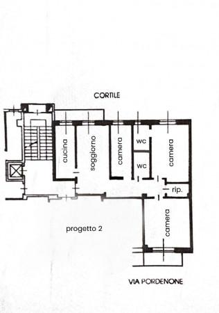 Appartamento in vendita a Milano, Lambrate, 120 mq - Foto 2
