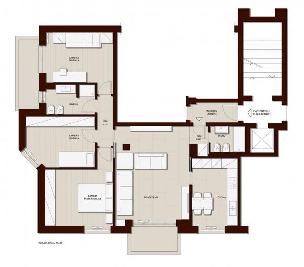 Appartamento in vendita a Milano, Vigentino, Con giardino, 130 mq - Foto 20