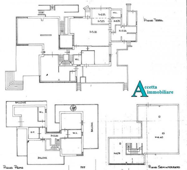 Villa in vendita a Taranto, Rione Laghi - Taranto 2, Con giardino, 446 mq - Foto 2