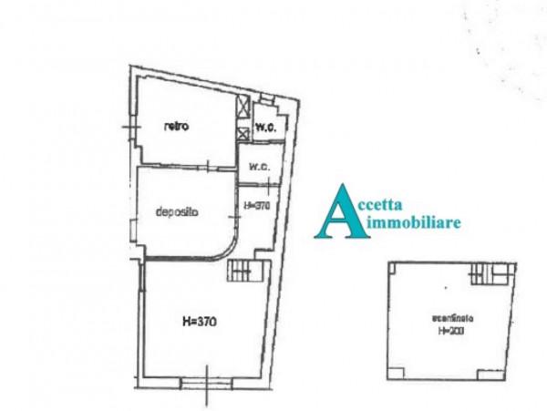 Negozio in vendita a Taranto, Tre Carrare, Battisti, 51 mq - Foto 2