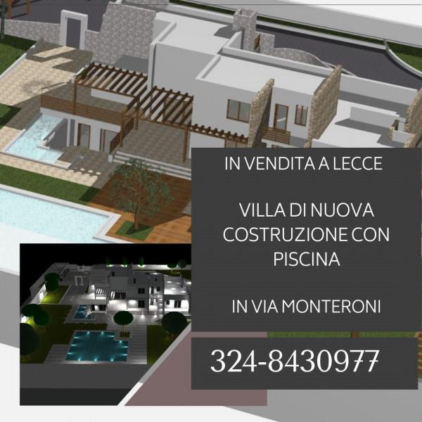 Villa in vendita a Lecce, Monteroni, Con giardino, 250 mq