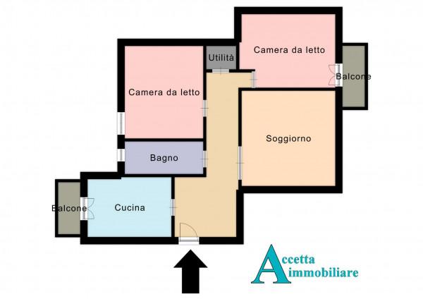 Appartamento in vendita a Taranto, Tre Carrare, Battisti, 105 mq - Foto 2