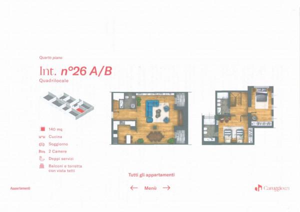 Appartamento in vendita a Chiavari, Centro Storico, 140 mq - Foto 4