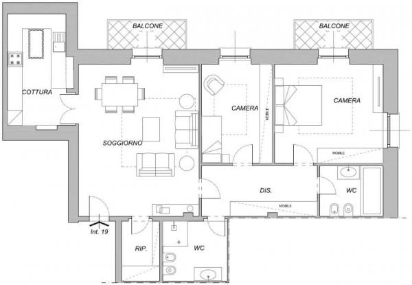 Appartamento in vendita a Chiavari, Centro Storico, 124 mq - Foto 2