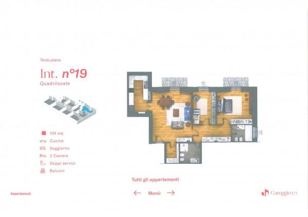 Appartamento in vendita a Chiavari, Centro Storico, 124 mq - Foto 3