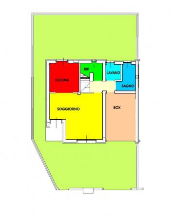 Villetta a schiera in vendita a Borghetto Lodigiano, Residenziale, Con giardino, 173 mq - Foto 43