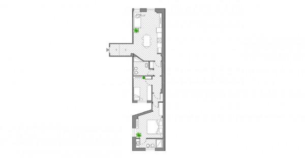Appartamento in vendita a Milano, Ripamonti, 80 mq