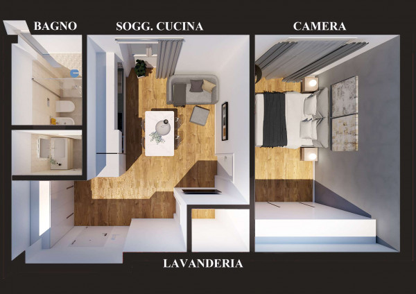 Appartamento in vendita a Milano, Con giardino, 56 mq - Foto 15
