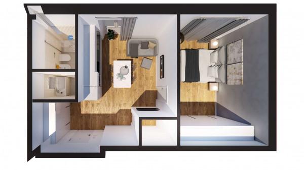 Appartamento in vendita a Milano, Con giardino, 56 mq - Foto 9