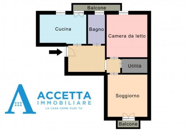 Appartamento in vendita a Taranto, Tre Carrare, Battisti, 78 mq - Foto 2