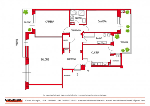 Appartamento in vendita a Torino, Con giardino, 160 mq - Foto 2