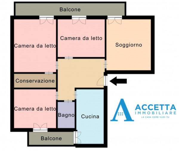 Appartamento in vendita a Taranto, Rione Italia, Montegranaro, 125 mq - Foto 2