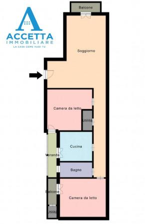Appartamento in vendita a Taranto, Rione Italia, Montegranaro, 110 mq - Foto 2