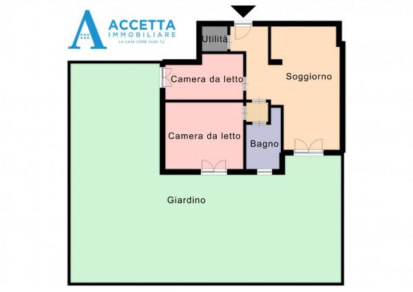 Appartamento in vendita a Taranto, Rione Laghi - Taranto 2, Con giardino, 88 mq - Foto 12
