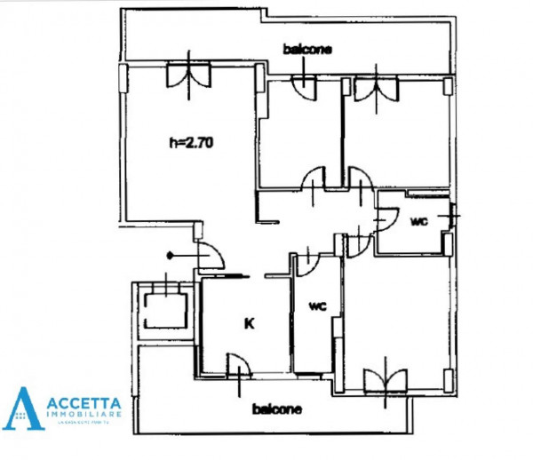 Appartamento in vendita a Taranto, Rione Laghi - Taranto 2, Con giardino, 130 mq - Foto 2