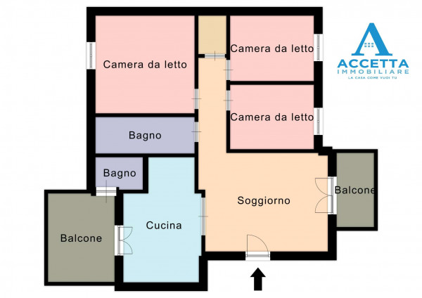 Appartamento in vendita a Taranto, Lama, 114 mq - Foto 2