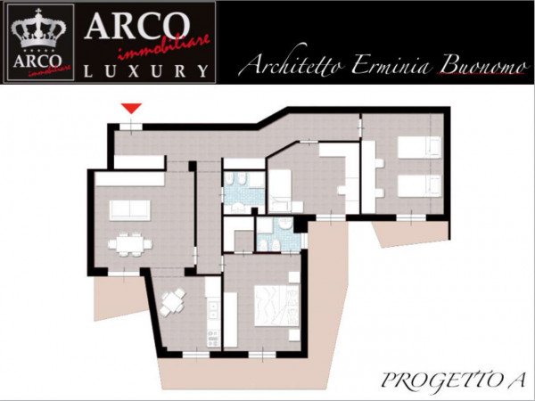 Appartamento in vendita a Marigliano, Centrale, 170 mq - Foto 2