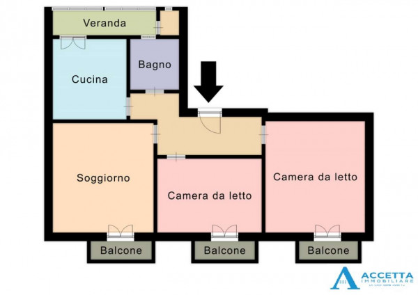 Appartamento in vendita a Taranto, Tre Carrare - Battisti, 83 mq - Foto 2