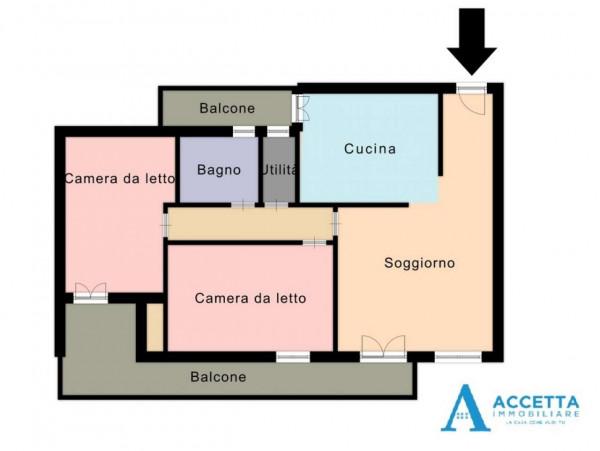 Appartamento in vendita a San Giorgio Ionico, Con giardino, 116 mq - Foto 2