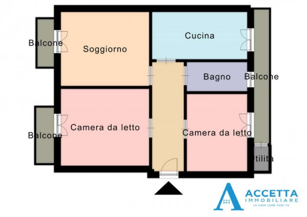 Appartamento in vendita a Taranto, Rione Italia - Montegranaro, 88 mq - Foto 2