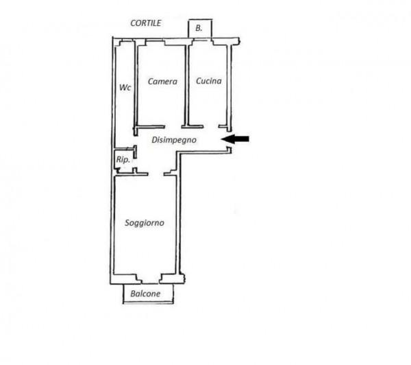Appartamento in vendita a Milano, San Siro, 65 mq