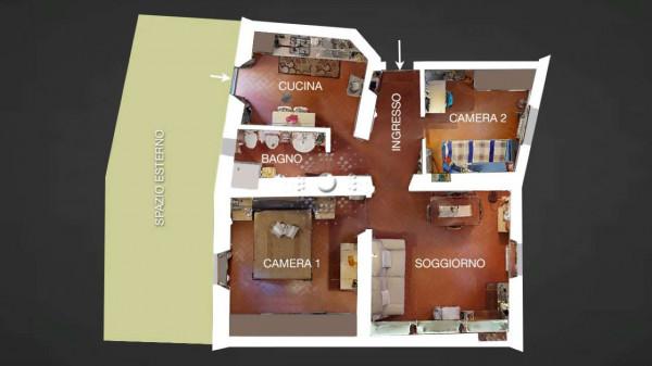 Appartamento in vendita a Firenze, Con giardino, 77 mq